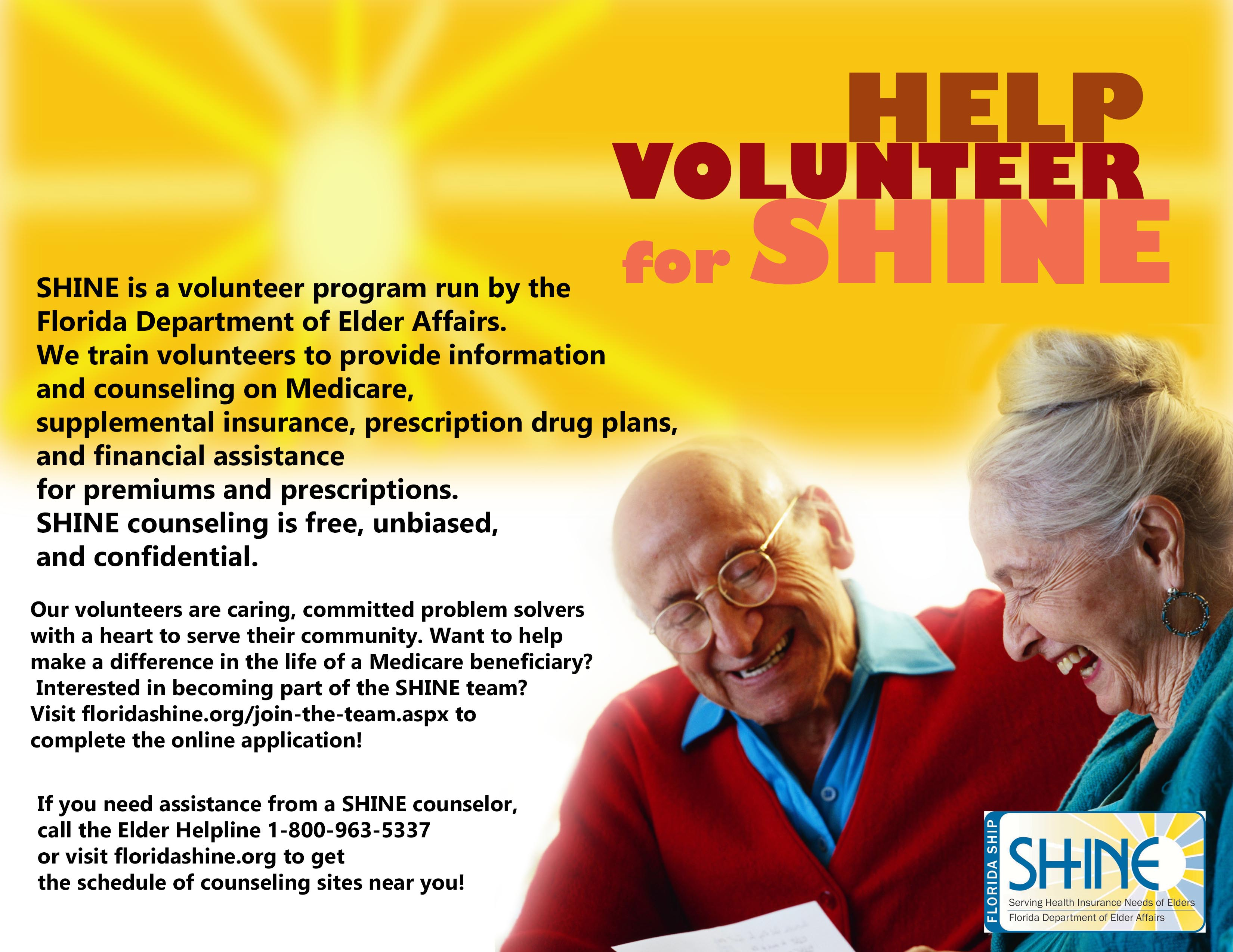 SHINE volunteer flyer